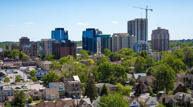 London, Ontario, Canada Skyline, Shot Stock Footage Video