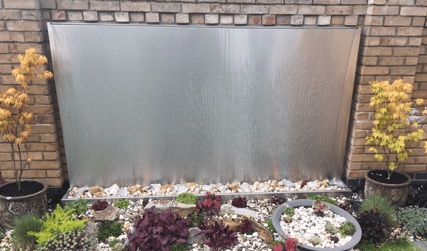 stainless steel water wall