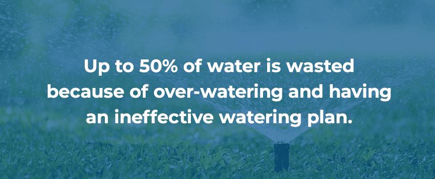 Ineffective watering plan smart irrigation