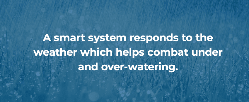 Reduce over watering smart irrigation