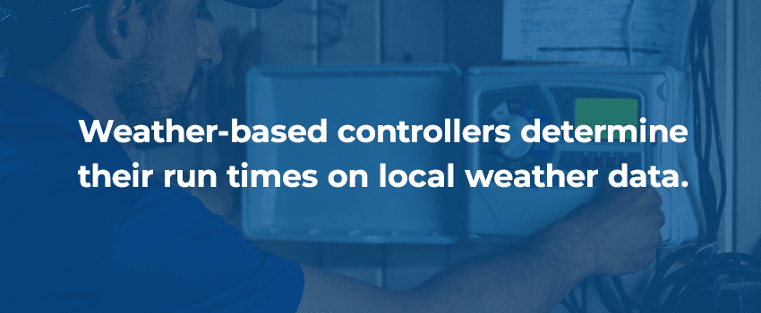 Weather based irrigation system